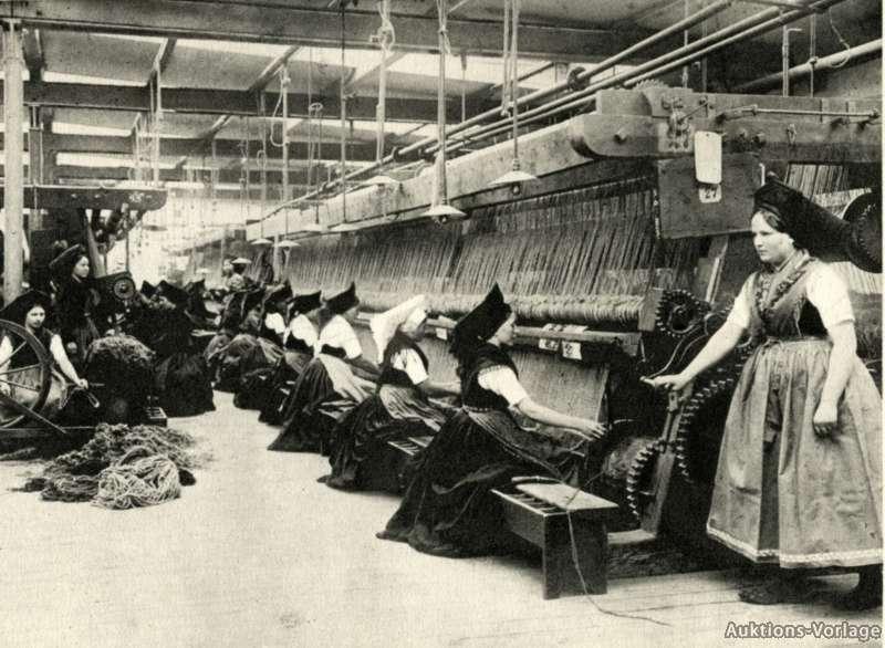 Smyrna Teppich Fabrik Cottbus Reklame von 1914 Tracht