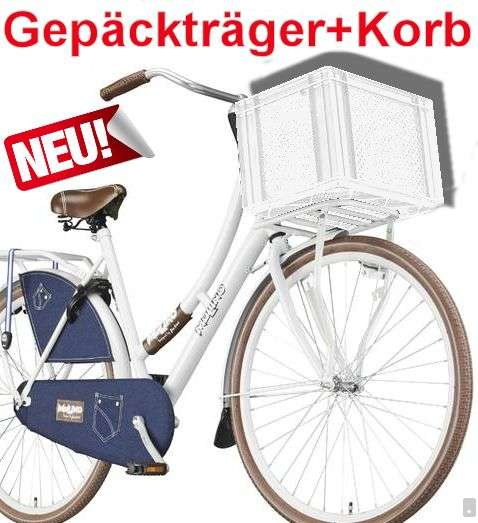 fahrrad gep cktr ger wei korb wei hollandrad vorne schwarz fahrradkorb ebay. Black Bedroom Furniture Sets. Home Design Ideas