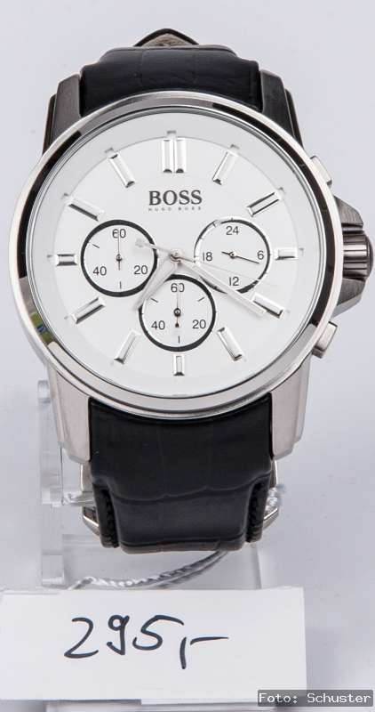 hugo boss herren chrono chronograph uhr neu leder armband. Black Bedroom Furniture Sets. Home Design Ideas