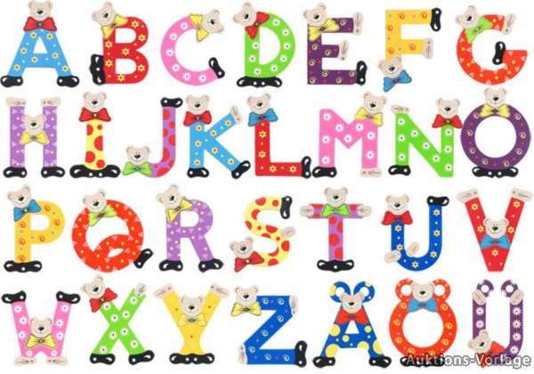 Playshoes Holzbuchstaben Holz Buchstaben Alphabet Namen Tür Deko ...