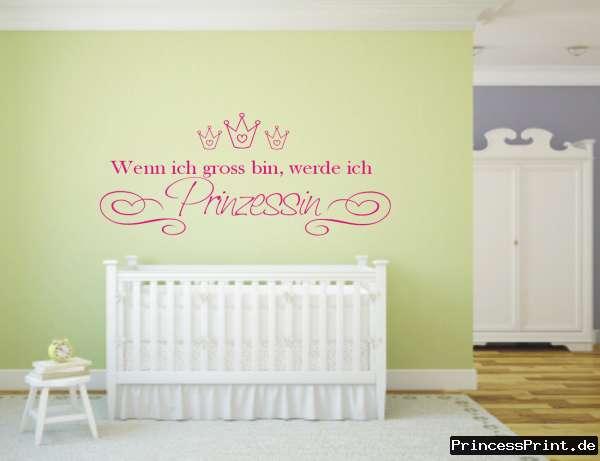 Wandtattoo ♥ Hinfallen Aufstehen Krone richten ♥ Prinzessin ♥ 2-farbig möglich