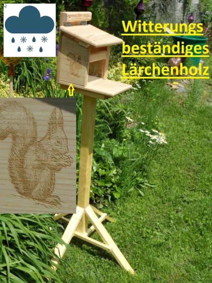 Eichhörnchen Futterstation Futterhaus Eichhörnchenhaus 100/% Hand Made in Germany