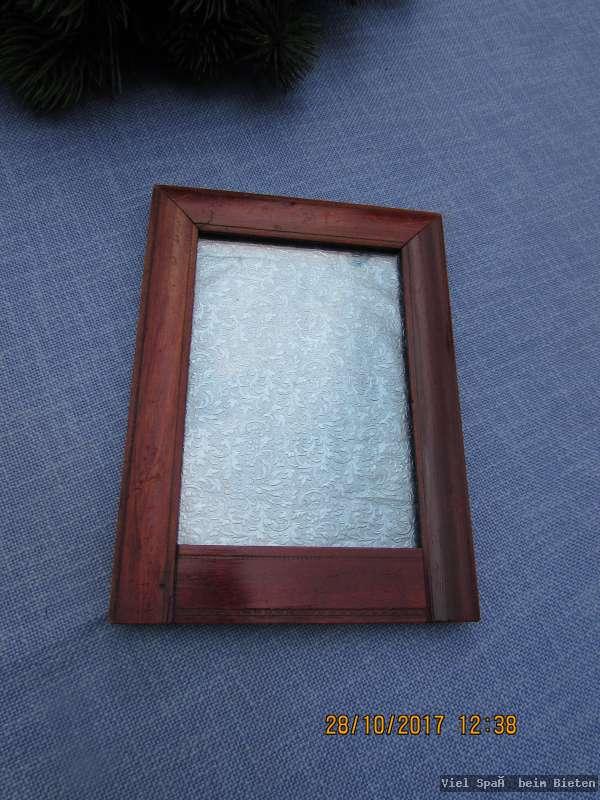 sch ner alter bilderrahmen biedermeier mit glas und aufsteller hinten ebay. Black Bedroom Furniture Sets. Home Design Ideas