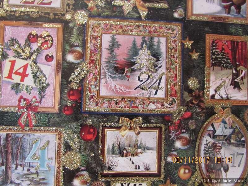 sch ner adventskalender handbeglittert in deutschland ebay. Black Bedroom Furniture Sets. Home Design Ideas